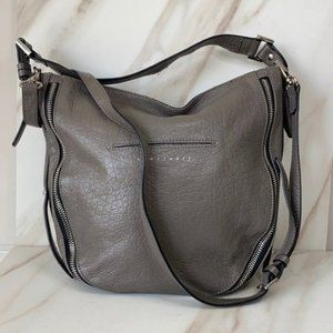 Sanctuary Taupe Gray Pebbled Leather Hobo Bag